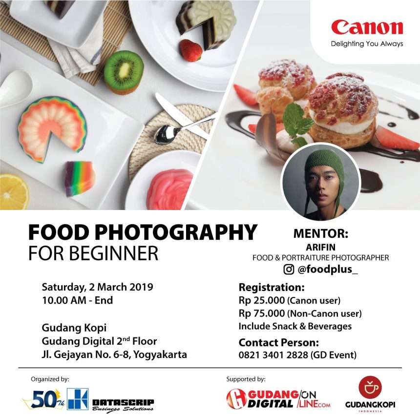 Food Photography for Beginner with Muhammad Arifin